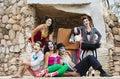 Laughing Cirque Ensemble Royalty Free Stock Photo