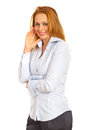 Laughing executive woman Royalty Free Stock Images