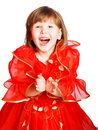 Laughing girl clapping hands Royalty Free Stock Photo
