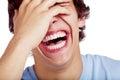 Laughing guy closeup Royalty Free Stock Photo