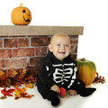 Laughing Little Halloween Skeleton Royalty Free Stock Photo