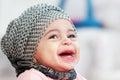 image photo : Laughing muslim baby girl