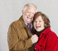 Laughing Senior Couple Royalty Free Stock Photo