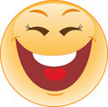Laughing smiley stock vector picture Royalty Free Stock Photos