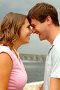 Laughing young couple Stock Images