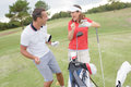 Laughter in golf course Royalty Free Stock Photo