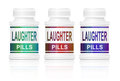 Laughter pills. Stock Photo