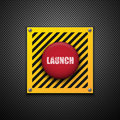 Launch button. Stock Photos