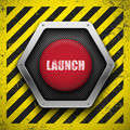 Launch button. Stock Image