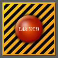 Launch button Royalty Free Stock Images