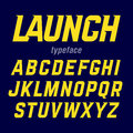 Launch typeface