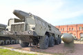 Launcher p with a rocket m of missile complex k temp s in military artillery museum st petersburg russia april nato classification Royalty Free Stock Photos