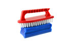 Laundry accessories brush and soap for Royalty Free Stock Images