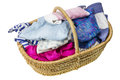 Laundry in basket Royalty Free Stock Photography