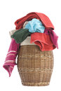 Laundry Basket and towels Royalty Free Stock Photos