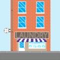 Laundry brick building Royalty Free Stock Photo