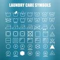 Laundry care symbols set Royalty Free Stock Photo