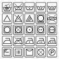 Laundry care symbols. Textile care icons. Royalty Free Stock Photo