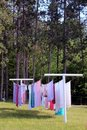 Laundry on clothesline Stock Image