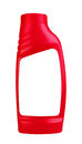 Laundry detergent in red bottle on a white background Royalty Free Stock Photos