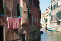 Laundry en venezia in nice day Royalty Free Stock Images