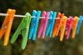 Laundry line Royalty Free Stock Photo