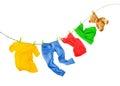 Wäsche farbig Er weiß