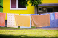 Laundry on line Royalty Free Stock Photo