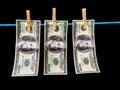 Laundry money Royalty Free Stock Photo
