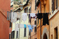 Laundry in Rome Royalty Free Stock Image