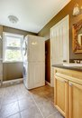 Laundry room with bathroom cabinet and sink. Stock Photos
