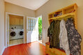 Laundry room with mud room. Royalty Free Stock Photos