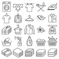 Laundry service icons. Vector