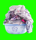 Laundry sheet in a bowl isolated Stock Photo