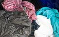 Laundry with Sudsy Water In Washing Machine Royalty Free Stock Photo