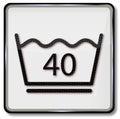 Laundry symbol gentle wash wash 40 degrees celsius Royalty Free Stock Photo