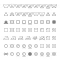 Laundry symbols Stock Photo