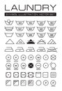 Laundry Symbols Collection Royalty Free Stock Image