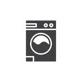 Laundry, washing machine icon vector, filled flat sign