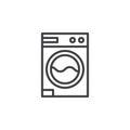 Laundry, washing machine line icon