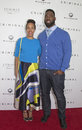 Lauran williamson tuck and justin tuck retired ny giants defensive standout nfl all star wife arrive on the red carpet for the Stock Images