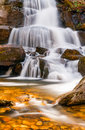 Laurel falls a popular waterfall in great smoky mountains national park tennessee usa Stock Images