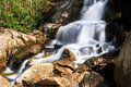 Laurel falls in the smokies a popular waterfall great smoky mountains national park tennessee is at end of a mile hike Stock Photos