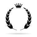 Laurel heraldic emblem royal on white background Royalty Free Stock Photos
