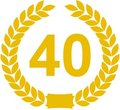 Laurel Wreath 40 Years Stock Photography