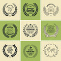 Laurel Wreath Badges Vector. Template for Awards, Quality Mark, Diplomas and Certificates.