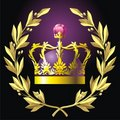 Laurel wreath and crown Royalty Free Stock Images