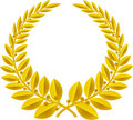 Laurel wreath gold (vector) Royalty Free Stock Image