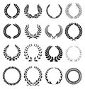 Laurel wreath icons Royalty Free Stock Photo