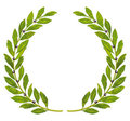Laurel wreath and laurel Stock Photo